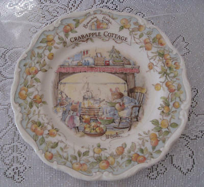 "Royal Doulton, Brambly Hedge - ""Crabapple Cottage"" 8 inch plate"