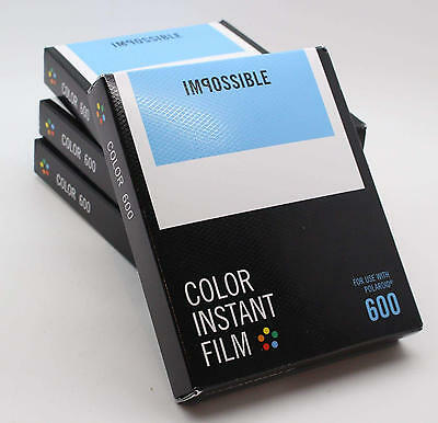Impossible Project Colour Instant Film for Polaroid 600 Cameras - 2017 Stock