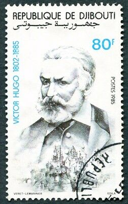 DJIBOUTI 1985 80f SG955 used NG Writers Victor Hugo #W30