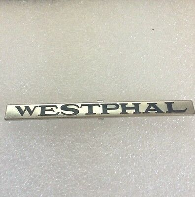 Lionel Mth Prewar Std Gauge Westphal Nickel Nameplate  Actual Mth Part