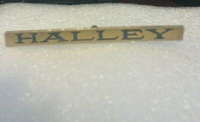 Lionel Mth Prewar Std Gauge Halley Car Brass Nameplate  Actual Mth Part