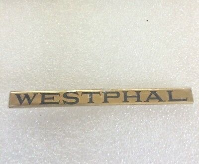 Lionel Mth Prewar Std Gauge Westphal Brass Nameplate  Actual Mth Part
