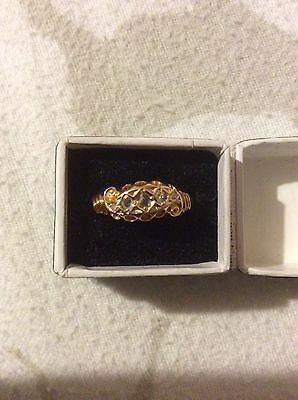 Antique  18ct Gold Diamond Ring