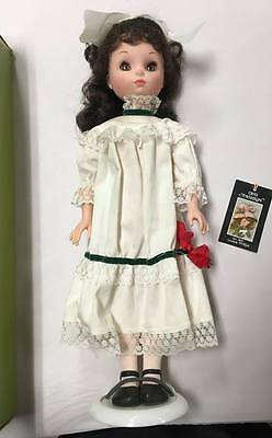 "Vintage Furga Brunette Odette 15"" Doll with Box Tag Stand All Original Italy"