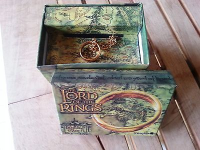Anneau Lord of the Rings Hobbit Collector New Line Cinema