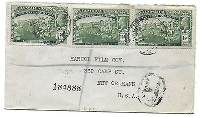 JAMAICA. 1921 registered cover to New Orleans