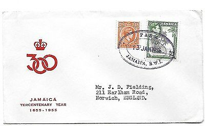 JAMAICA. Cover to UK with TRD of FARM postal agency