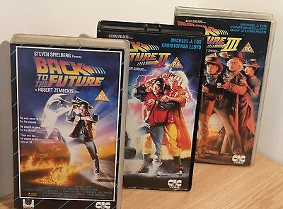 VHS VIDEO JOBLOT - BACK TO THE FUTURE TRILOGY - OLD & RARE VIDEOS Vintage Film