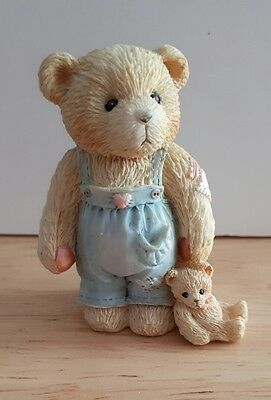 """Cherished Teddy young son """"child of hope"""" boxed with adoption papers 1993"""