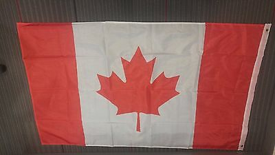 Large Canadian Flag - Polyester 3'X5 - Metal grooves- Perfect for Canada Day'