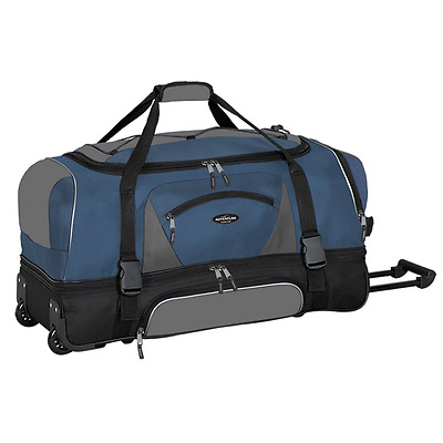 "Travelers Club Luggage Adventure 30"" 2-Section Drop Bottom Rolling Duffel"