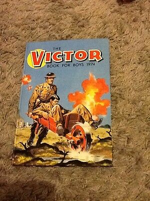 Superb Vintage 1974 The Victor Book for Boys annual