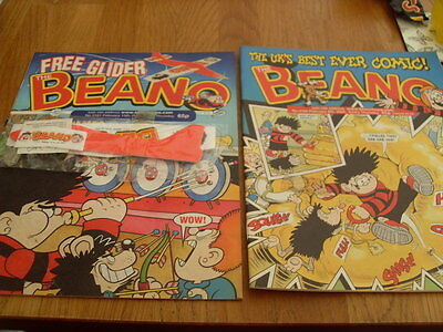 The Beano Comic 2 Issues No  3160 /3161 + Gift Plane 2003