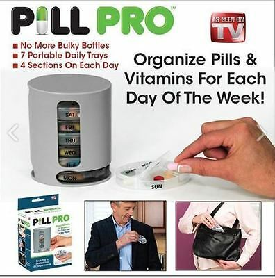 Pill Pro PILLPRO AS SEEN ON TV Compact Organize Pill Vitamin Storage NEW!!