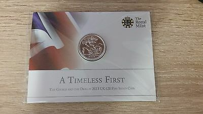A Timeless First 2013 Fine  Silver £20 twenty pound coin George and the Dragon
