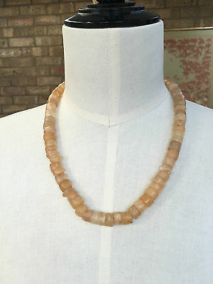 ANCIENT Rock Crystal Dig Beads Necklace Niger