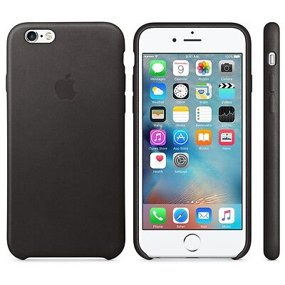 APPLE BRAND Leather case for iPhone 6 6s - BLACK - NEW IN BOX!!