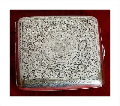Sterling Silver Presentation Cigarette Case. Bury Athenaeum Operatic Soc. 1908.