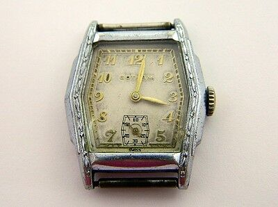 GOTHAM Swiss Movement with dial and case for parts watch vintage