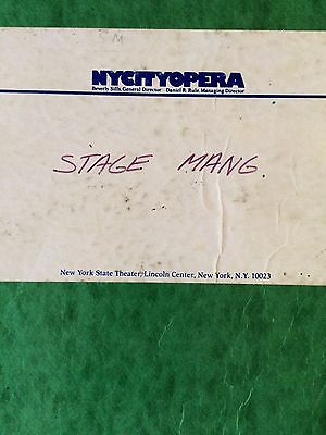 Merry Widow New York City Opera Stage Manager Vocal Score 1982 Rare