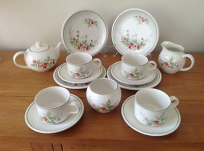 Lovely Set Of BHS Strawberries Teaware 15 Pieces.