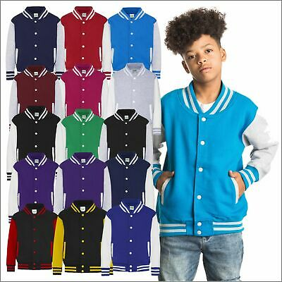 Kids Boys Girls Varsity Baseball Jacket College School Children American TOP