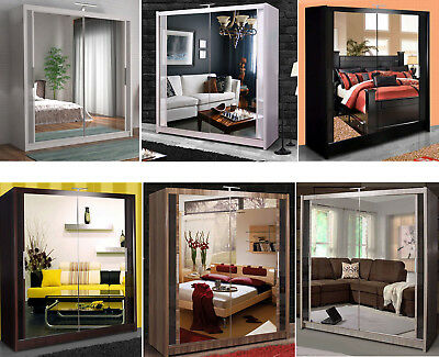 Brand New Chicago Double Sliding Door Wardrobe LED light Free Delivery in London