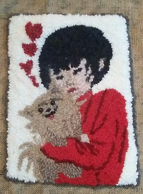 """Rug Hooking Pattern DEBBIE-DOG on  Red Dot Fabric 11"""" X 16"""""""