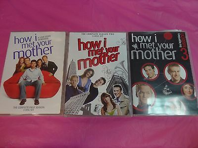 How I Met Your Mother Seasons 1, 2 & 3 (Dvd) **free Shipping** ~