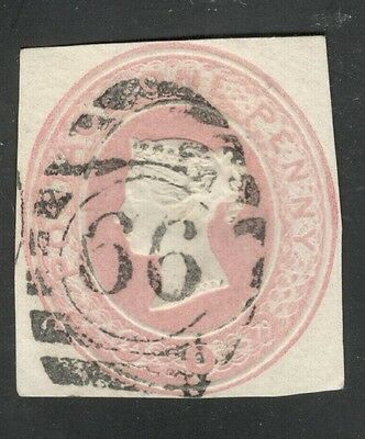 Queen Victoria - 1d Pink - Embossed - Postal Stationery London District