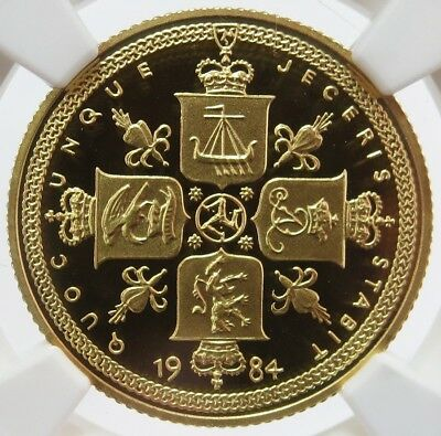 1984 Gold Isle Of Man Pound Rare Only 12 Minted Ngc Proof 67 Ultra Cameo
