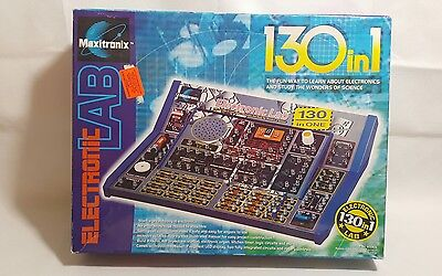 MAXITRONIX 130 in 1 ELECTRONIC LAB SET 130 ELECTRONICS SCIENCE EXPERIMENTS MX906