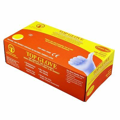 Disposable Nitrile Powder Free Latex Gloves Top Glove Medical Grade Box 100 Lot