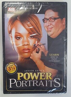 Airbrush Action DVD - Power Portraits - Javier Soto (2 DVD Set) Custom Paint