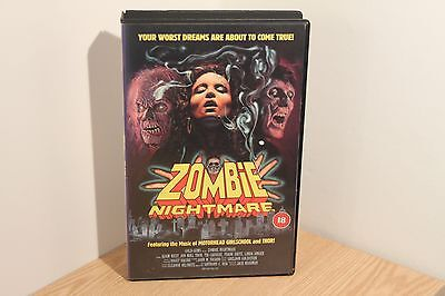 Vhs Video Classic - Zombie Nightmare - Old & Rare Videos - Vintage Horror Movie