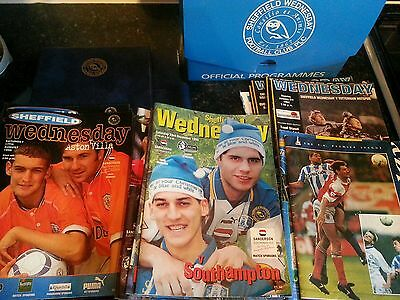 Sheffield Wednesday Programmes with Programme Binders