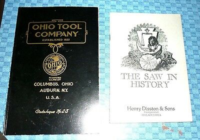Lot 2 Vintage Tools Book - Ohio Tool Co. & The Saw in History - Reprints