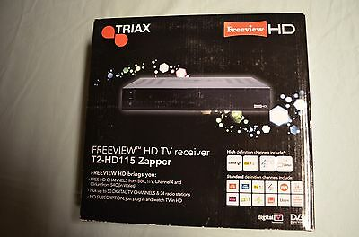 Triax Freeview HD set top box T2-HD115 Zapper - Brand New Boxed