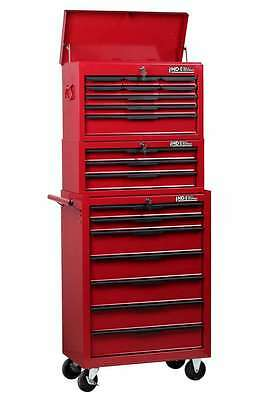Hilka Tool Storage Trolley Chest New 19 Drawer Red Metal Mobile Tools Cabinet