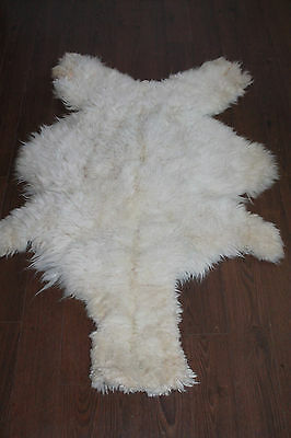 Vintage Genuine Llama Alpaca Fur Skin Rug Soft Plush Carpet 56""