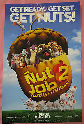 The Nut Job 2 Nutty By Nature Movie Promo Poster 2017 Fan Expo Comic Con 11 x 17