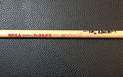 IRON MAIDEN - NICKO BOOMER McBRAIN - STAGE USED AUTOGRAPHED TOUR DRUMSTICK