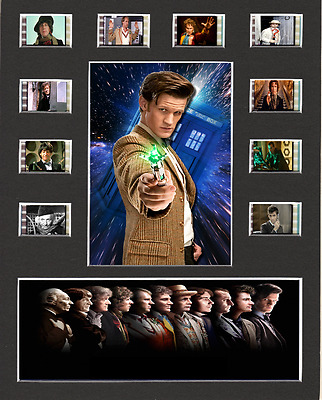 Doctor Who replica Film Cell Presentation 10 x 8 Mounted 10 individual cells