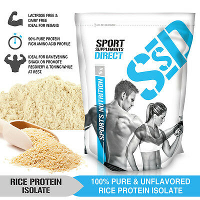 5kg 100% Rice Protein Isolate Powder Unflavoured 5 X 1kg Pure Rice Protein 5KG