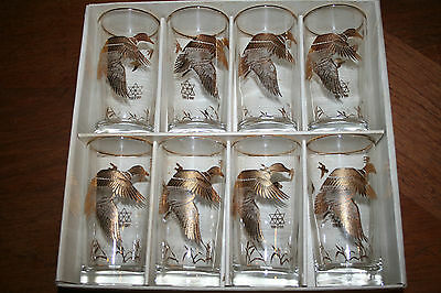Vintage Dominion Glassware Set Of 8 In Original Box Centennial Year 1867-1967