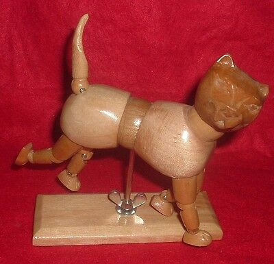 Cat Mannequin Articulated Wood Figure Jointed Artist Drawing Model Mannequin 5.5