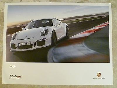 2014 Porsche 911 GT3 Showroom Advertising Sales Poster RARE!! Awesome L@@K