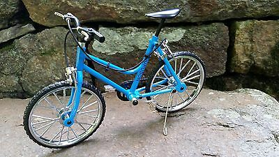 Miniature Blue Womans Mt Bicycle 1/10 scale for Riley & DJ