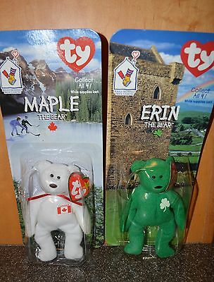 Ty Beanie Babies - Erin, Maple, 1999 - Lot of 2