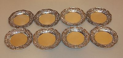 8 S. Kirk & Son Sterling Silver 3-1/4 Inch Individual Repousse Butter Pats 17